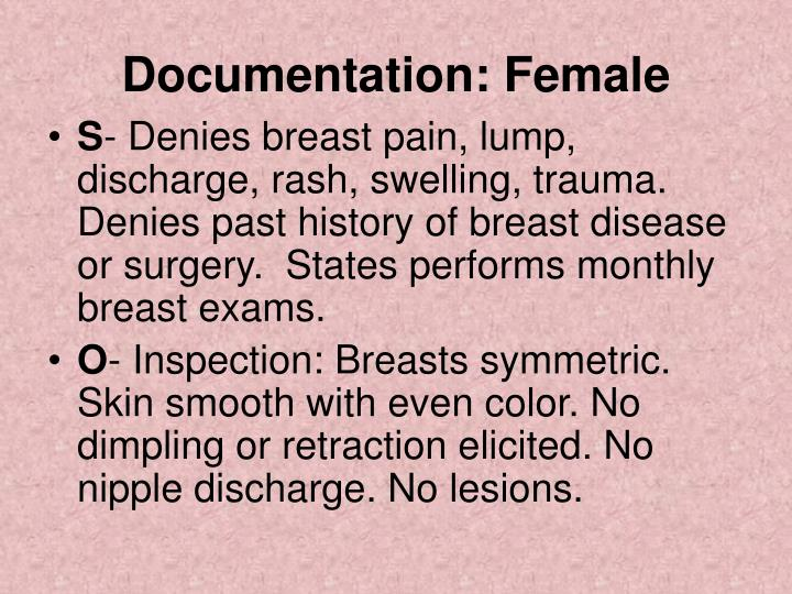 Documentation: Female
