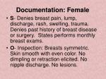 documentation female