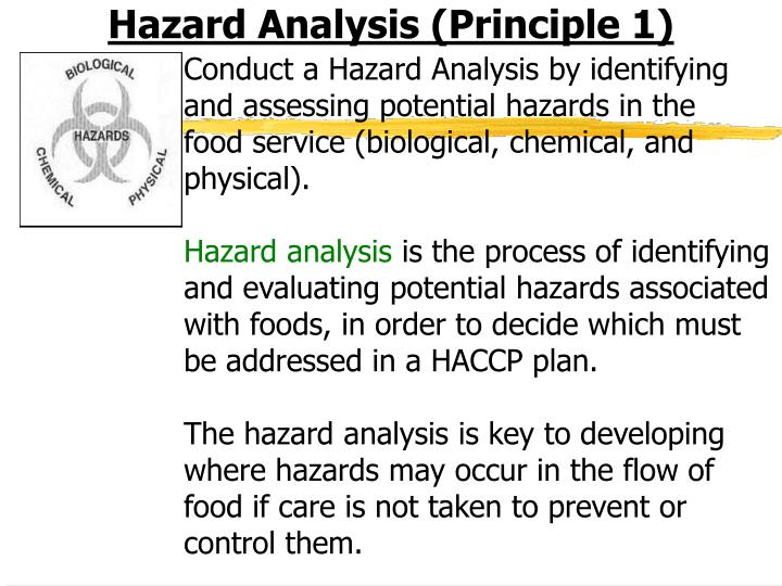 Hazard Analysis (Principle 1)