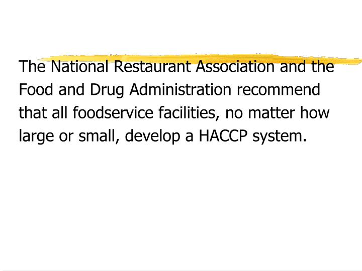 The National Restaurant Association and the
