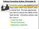 taking corrective action principle 5