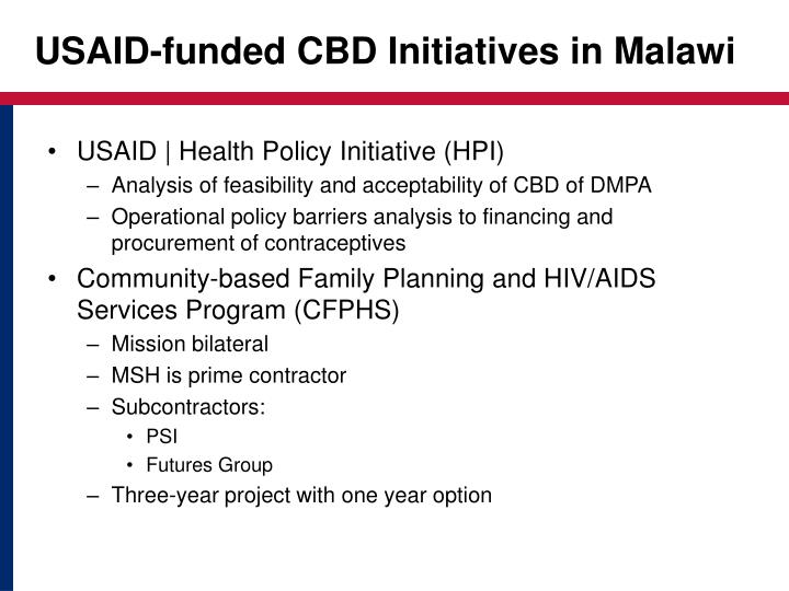 USAID-funded CBD Initiatives in Malawi