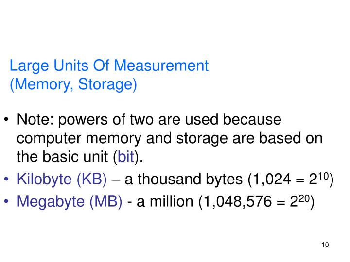 Large Units Of Measurement