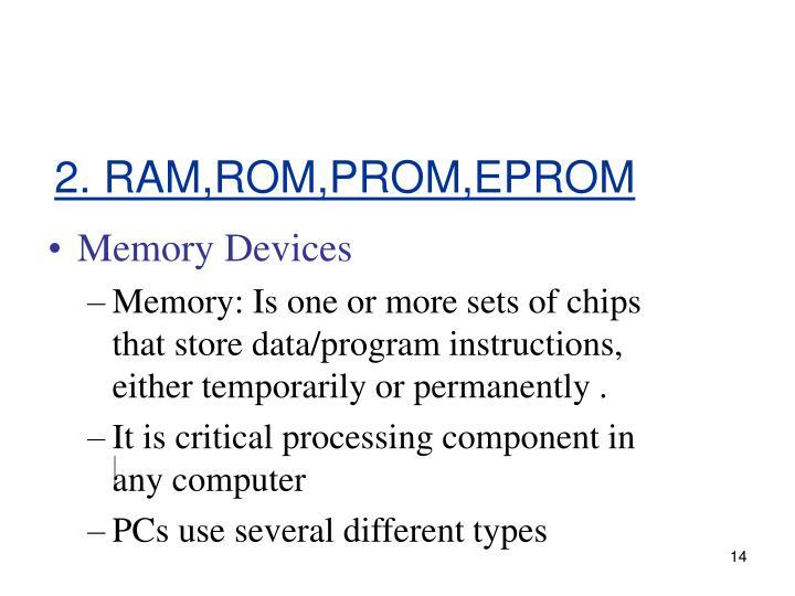 2. RAM,ROM,PROM,EPROM