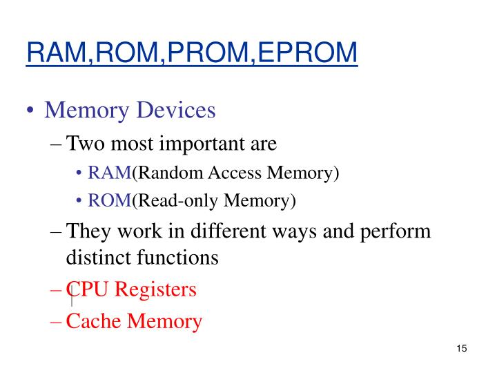 RAM,ROM,PROM,EPROM