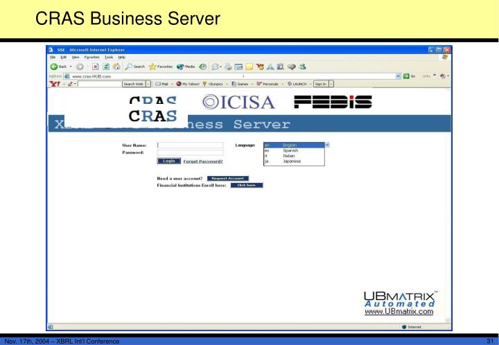 CRAS Business Server