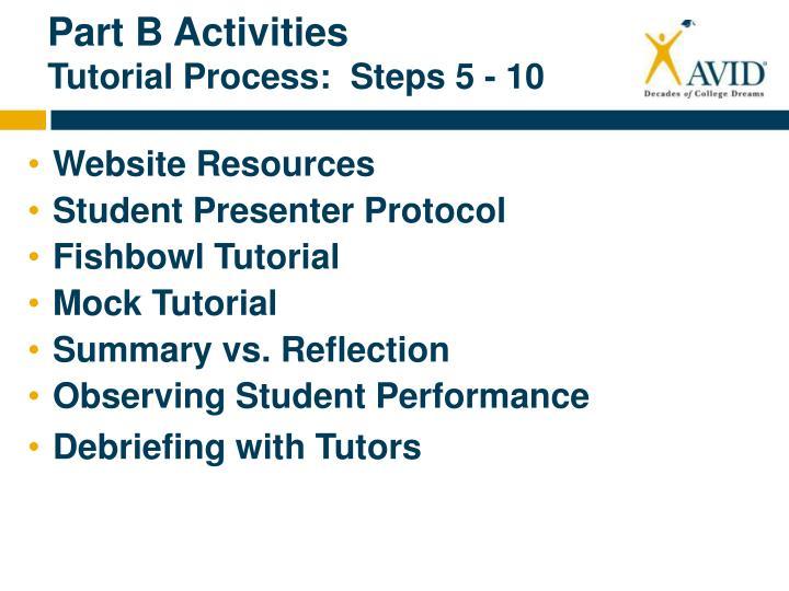 Part B Activities