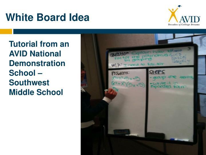 White Board Idea