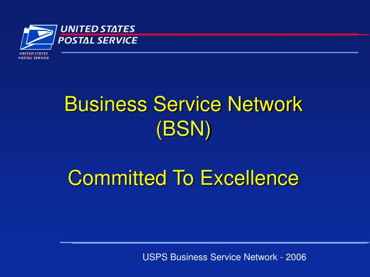 Business Service Network (BSN)