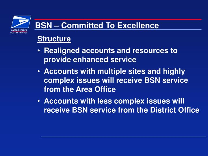 BSN – Committed To Excellence