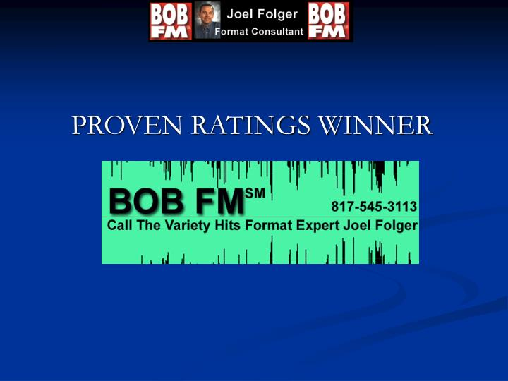 Proven ratings winner