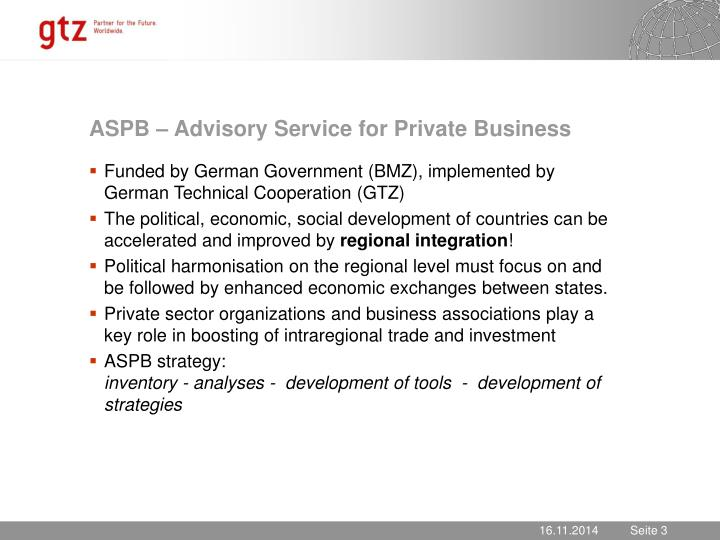 ASPB – Advisory Service for Private Business