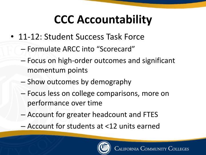 CCC Accountability