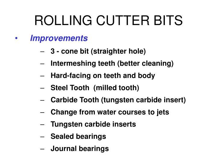 ROLLING CUTTER BITS
