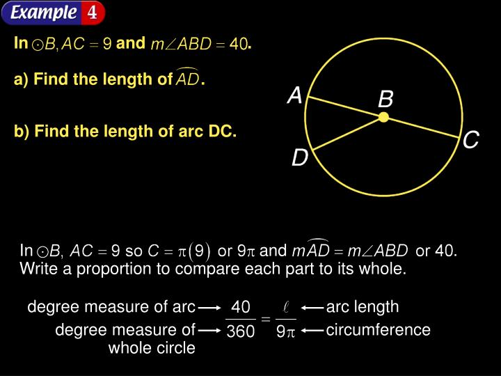 degree measure of arc