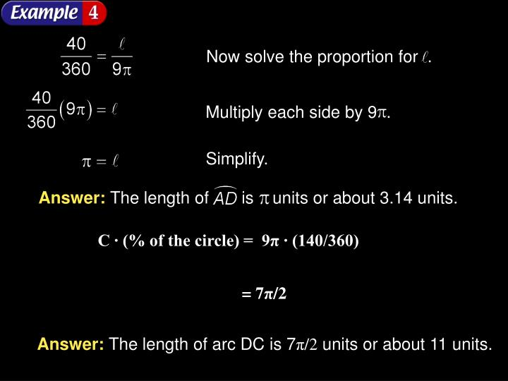 Now solve the proportion for  .