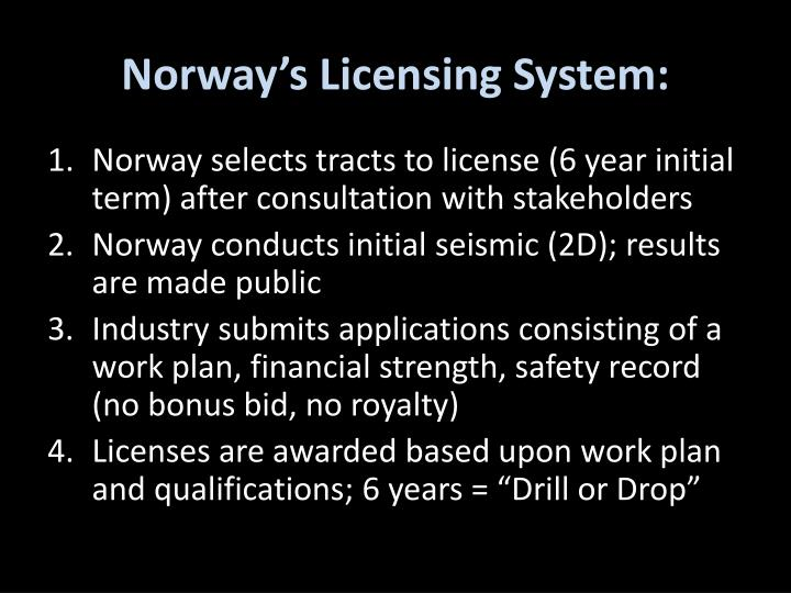 Norway's Licensing System:
