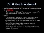 oil gas investment