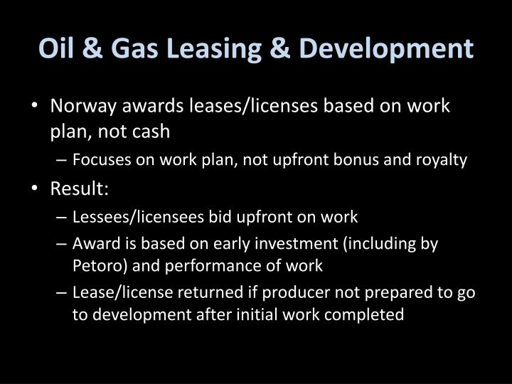Oil & Gas Leasing & Development