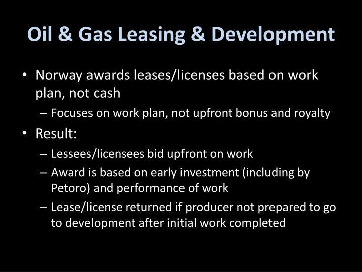Oil & Gas Leasing & Development