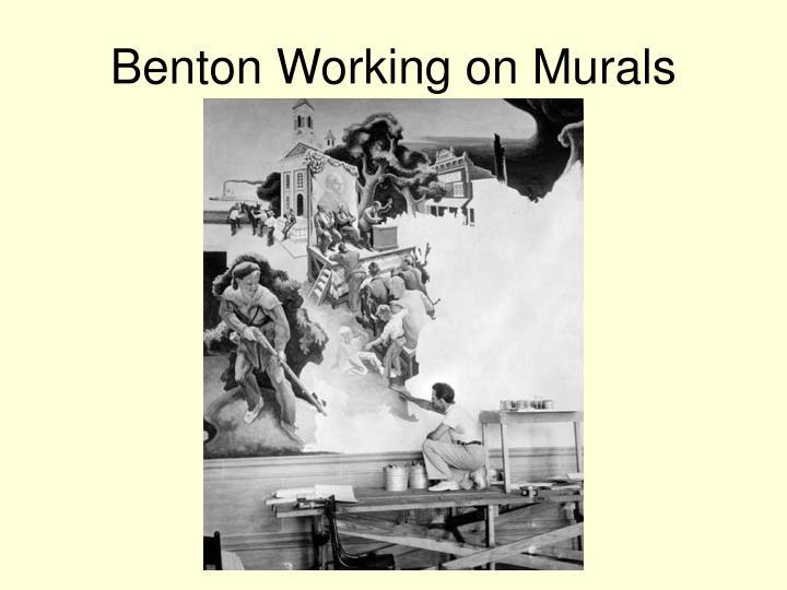 Benton Working on Murals