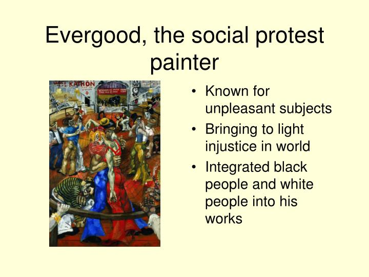 Evergood, the social protest painter
