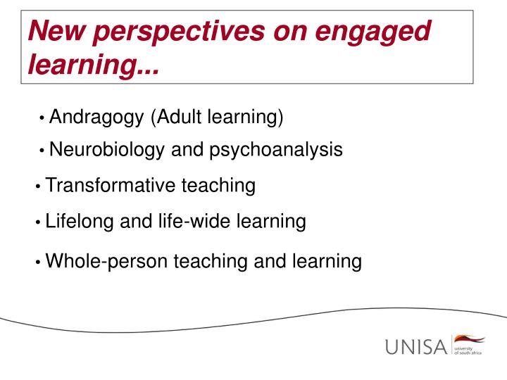 New perspectives on engaged learning...