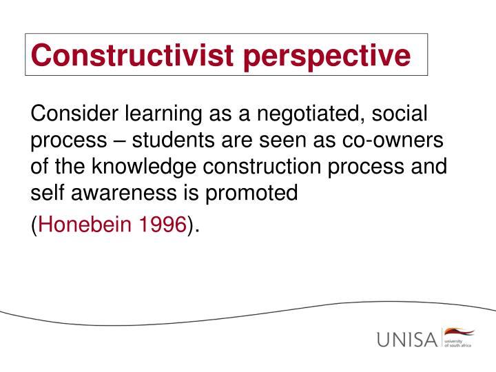 Constructivist perspective