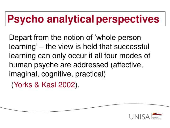 Psycho analytical