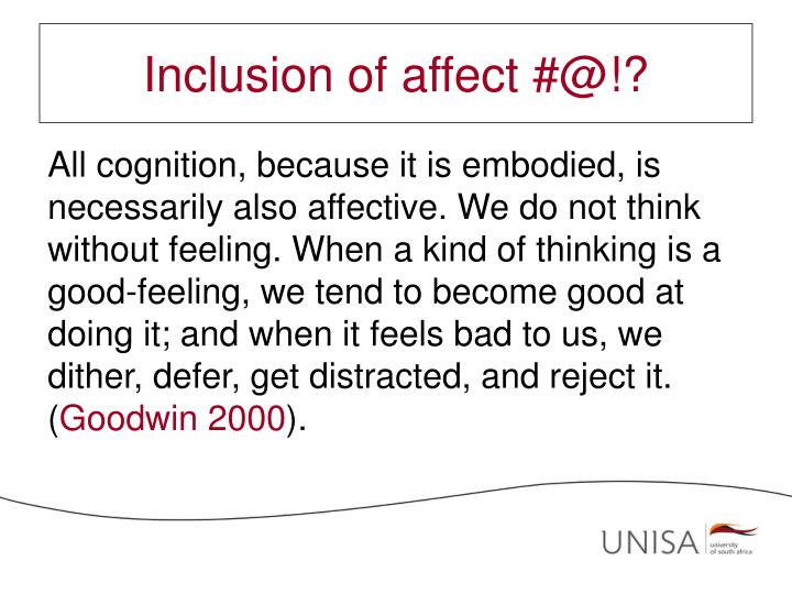 Inclusion of affect #@!?