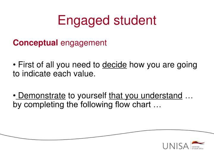 Engaged student