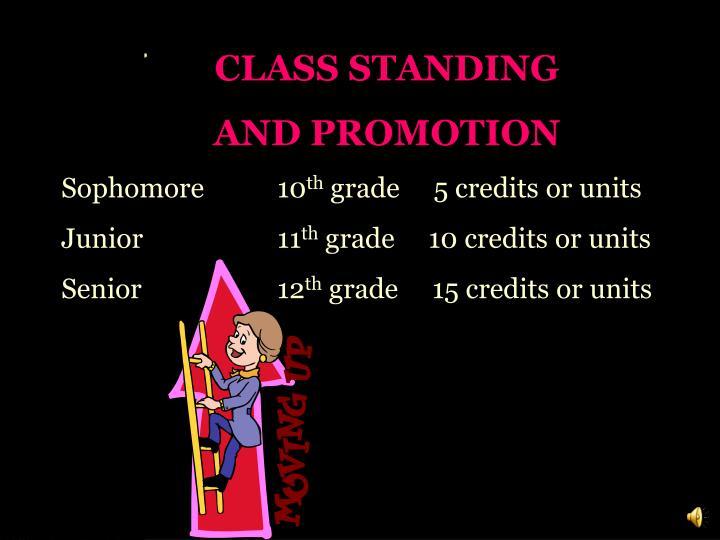 CLASS STANDING