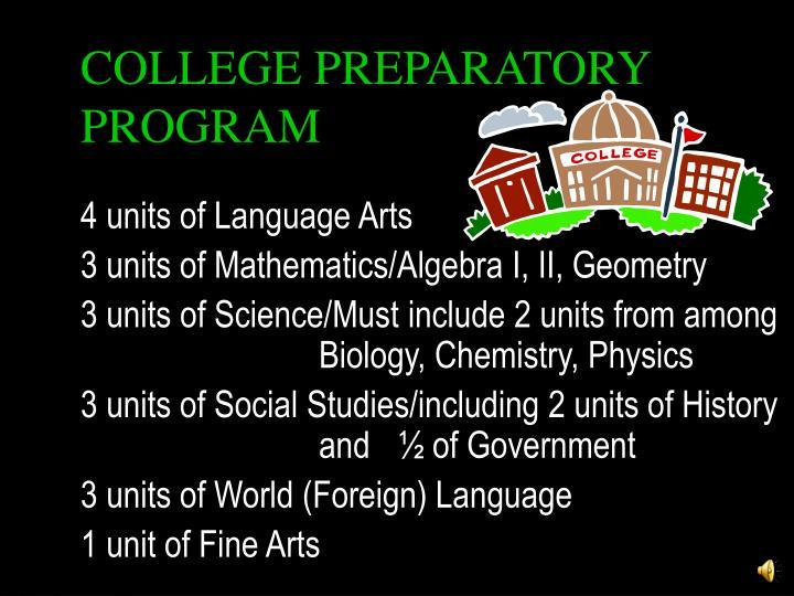 COLLEGE PREPARATORY PROGRAM