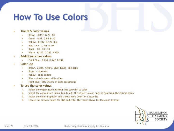 How To Use Colors