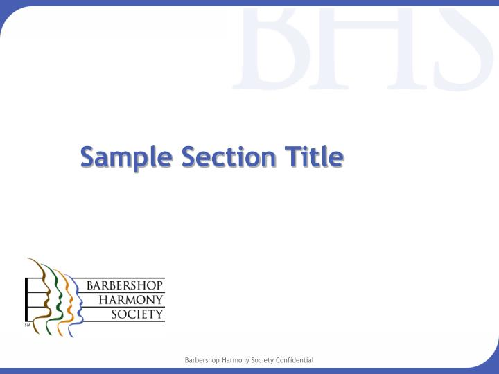 Sample Section Title
