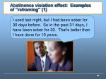 abstinence violation effect examples of reframing 1