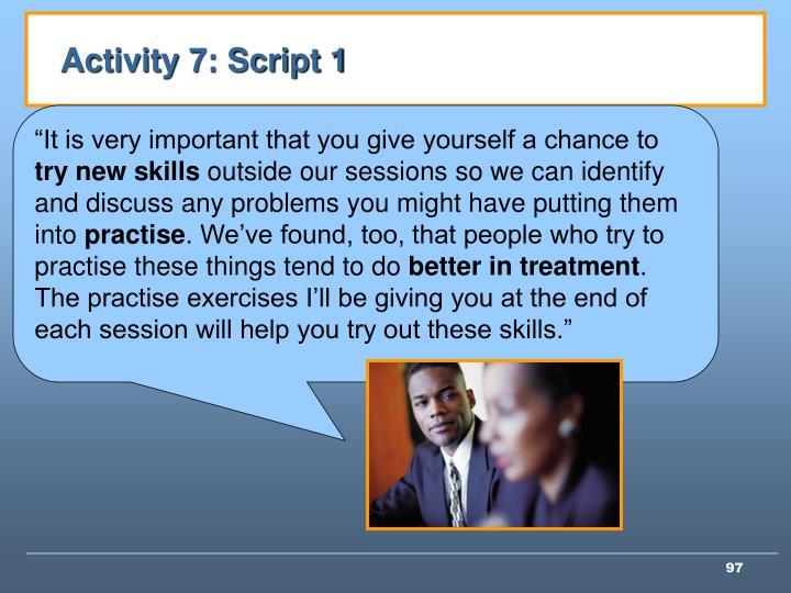 Activity 7: Script 1