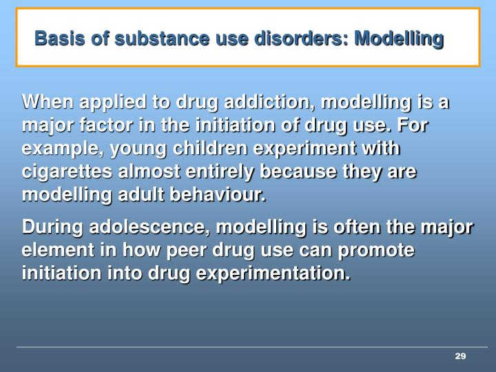Basis of substance use disorders: Modelling