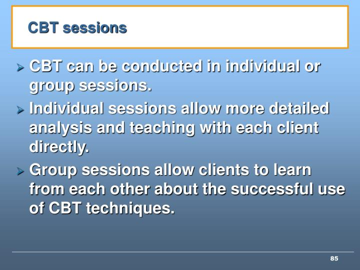 CBT sessions