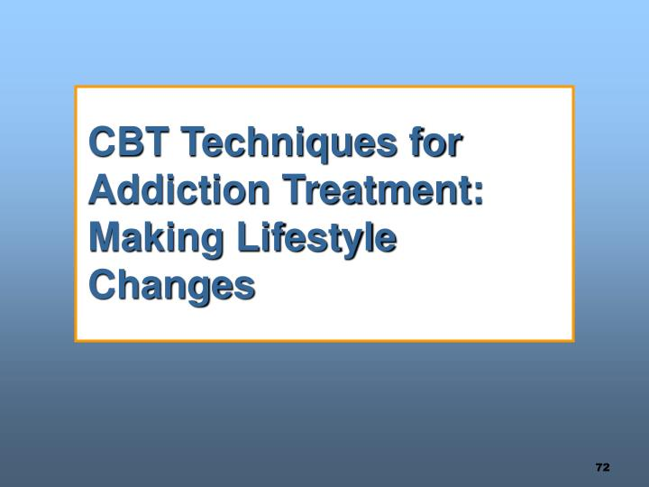 CBT Techniques for Addiction Treatment:  Making Lifestyle Changes