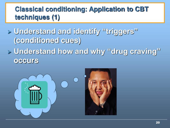 Classical conditioning: Application to CBT techniques (1)