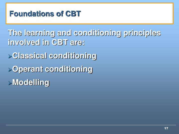 Foundations of CBT