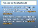 high and low risk situations 1