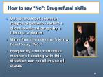 how to say no drug refusal skills