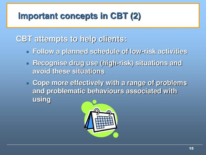 Important concepts in CBT (2)