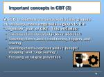 important concepts in cbt 3