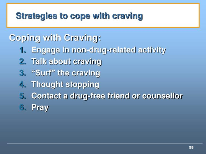 Strategies to cope with craving