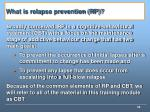 what is relapse prevention rp
