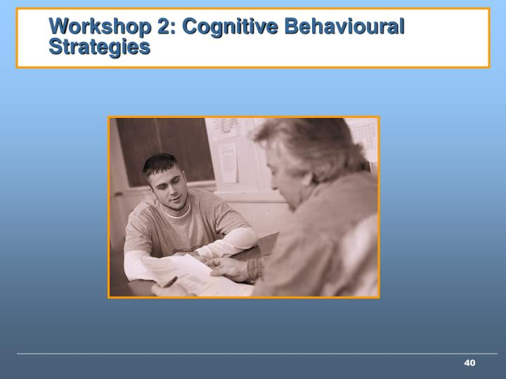 Workshop 2: Cognitive