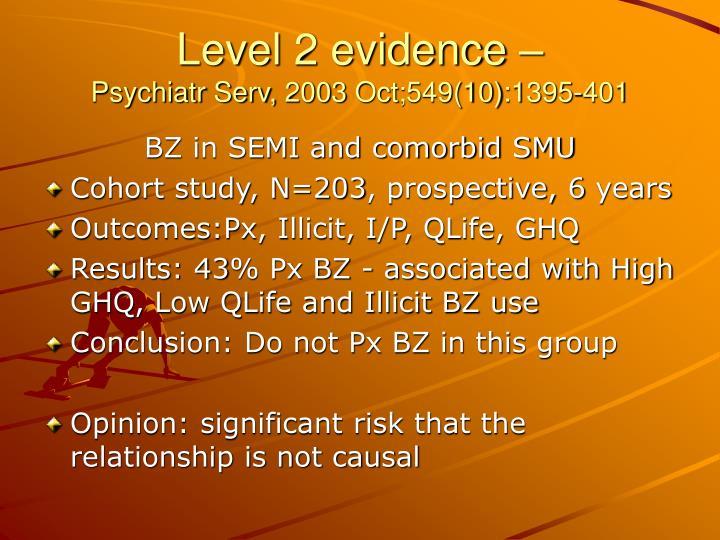 Level 2 evidence –